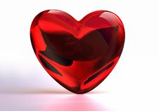 Free Heart Of Glass Royalty Free Stock Images - 8860239