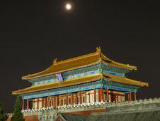 Forbidden City In Beijing At Night Stock Image