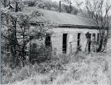 Abandoned Farmhouse In Black And White Stock Images