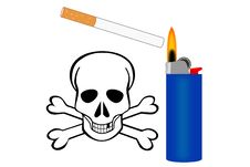 Free Cigarette Danger Royalty Free Stock Photos - 8860668