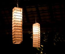 Free Mulberry Paper Lanterns At Night Stock Photo - 8860840