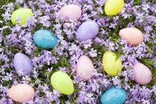 Free Easter Egg Floral Background Royalty Free Stock Photos - 8861218