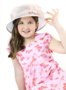 Free Girl On Pink Hat Stock Photography - 8861312