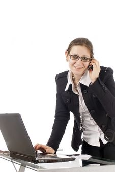 Free Office Woman Royalty Free Stock Photos - 8861438