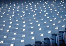 Free Empty Seats At A Stadium Stock Image - 8861931