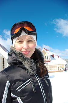 Free Portrait Of Female Skier Royalty Free Stock Image - 8862116