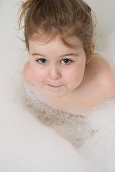 Free Child In The Bath Stock Image - 8863231