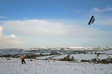 Kite Skiing Stock Photography