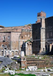 Augustus Forum In Rome (Italy) Stock Image