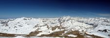 Ski Resort Tignes Panorama Royalty Free Stock Photography