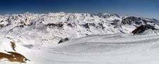 Ski Resort Tignes Panorama Stock Photo