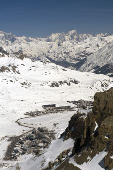 Free Ski Resort Tignes Royalty Free Stock Photography - 8864397