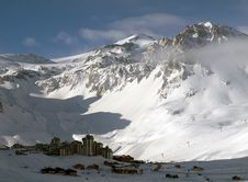 Ski Resort Tignes Royalty Free Stock Photos