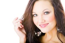 Young Woman Portrait, Studio Shoot Royalty Free Stock Photography
