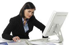 Free Angry Beautiful Businesswoman Stock Photo - 8864890