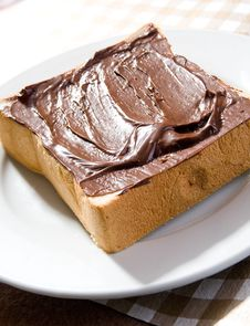 Free Toast With Chocolate Sauce Royalty Free Stock Images - 8865079