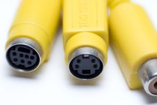 Free Video Cables Royalty Free Stock Photos - 8865898