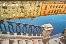Free Reflections Of Old Buildings Stock Image - 8866421