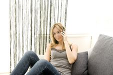 Free Woman Talking On A Phone Stock Photos - 8866633