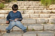 Free Boy Reading Royalty Free Stock Photography - 8866787