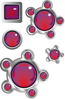 Free Collection Of Fancy Web Buttons Stock Image - 8867011