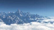 Free Mountains At The Skyline Royalty Free Stock Photo - 8867275