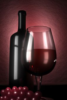 Free Wine And Grapes Royalty Free Stock Photography - 8867587