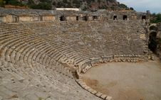 Free Greek Theater, Myra, Turkey Royalty Free Stock Photo - 8869035