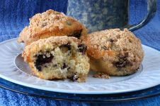 Free Blueberry Muffins With Coffee Royalty Free Stock Photography - 8869187