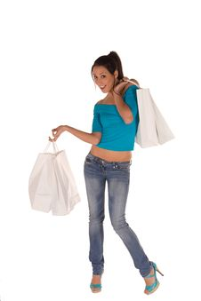 Free Young Woman With Shopping Bags Stock Photography - 8869312