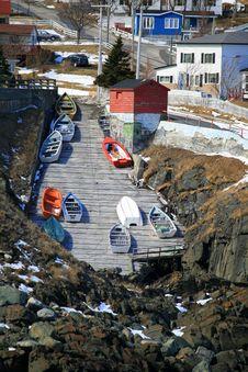 Free Fishing Boats On Slipway Stock Photo - 8869460