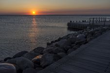 Free Rippling Sea Water During Sun Set Time Royalty Free Stock Photography - 88626487