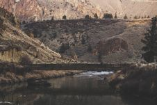 Free Bridge Crossing River Canyon Stock Image - 88626931