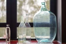 Free Glass Bottles Of Various Shapes And Sizes Royalty Free Stock Image - 88686486