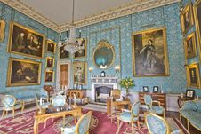 Free Castle Howard Turquoise Drawing Room Stock Image - 88692141