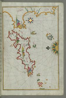 Free The Island Of Samos, From Book On Navigation, Walters Art Museum Ms. W.658, Fol.79b Royalty Free Stock Photography - 88693417