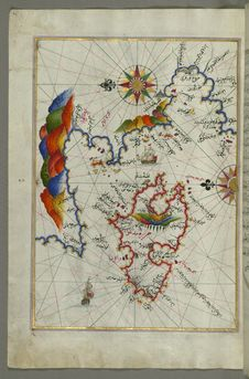 Free The Island Of Midilli &x28;Midillü, Mitylene, Lesvos&x29; In The Northeastern Aegean Sea, From Book On Navigation, Walters Art Stock Images - 88693424