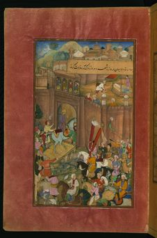 Free Babur Entering Kabul, From Illuminated Manuscript Baburnama &x28;Memoirs Of Babur&x29;, Walters Art Museum Ms. W.596, Fol.16a Royalty Free Stock Photo - 88693465