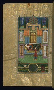 Free Five Poems &x28;quintet&x29;, Walters Art Museum Ms. W.607, Fol. 110a Stock Photos - 88693743
