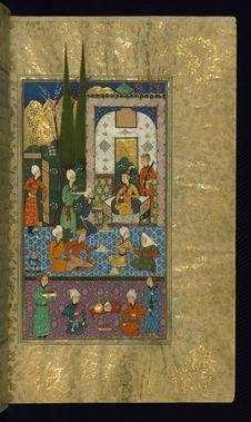 Free Five Poems &x28;quintet&x29;, Walters Art Museum Ms. W.607, Fol. 29b Stock Photo - 88693760