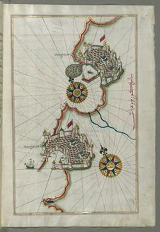 Free Illuminated Manuscript, Map Of The Coastline From Piran &x28;Pirānū&x29; As Far As Izola &x28;Īzele&x29; &x28;Slovenia&x2 Royalty Free Stock Photography - 88693907