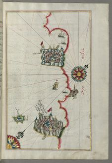 Free Illuminated Manuscript, Map Of The Coastline From Poreč &x28;Parenzo, Brānse&x29; As Far As Novi Grad &x28;Croatia&x29; From Stock Image - 88693911
