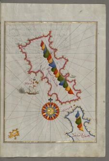 Free Illuminated Manuscript, The Island Of Andros &x28;Andre, Andra&x29; In The Northern Aegean Sea, From Book On Navigation, Walters Royalty Free Stock Images - 88693919