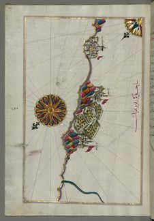 Free Illuminated Manuscript, Map Of The Italian Coastline South Of Ancona Including Tronto From Book On Navigation, Walters Art Museum Stock Photo - 88693920
