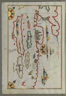 Free Illuminated Manuscript, Map Of The Coastline And The Islands Off Zadar &x28;Zādare&x29;&x28;Croatia&x29; From Book On Navigat Stock Photo - 88693930