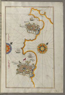 Free Illuminated Manuscript, Map Of The Coastline From Novi Grad As Far As Umag &x28;Umago, Ūmāghū&x29; &x28;Croatia&x29; From B Royalty Free Stock Images - 88693949