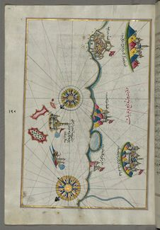 Free Illuminated Manuscript, Map Of The Italian Coast Between Termoli And Peschici From Book On Navigation, Walters Art Museum Ms. W.65 Royalty Free Stock Images - 88694039