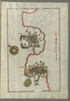 Free Illuminated Manuscript, Map Of The Coastline From Izola &x28;Īzele&x29; As Far As Koper &x28;Capodistria, Dishtriye&x29; &x2 Stock Photos - 88694053