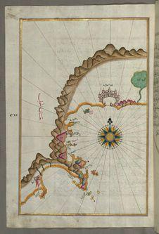 Free Illuminated Manuscript, Map Of The Anatolian Coast From Alanya &x28;ʿAlāʾiye Alaiye&x29; To Andalye &x28;Antalya, Formerly K Stock Images - 88694094