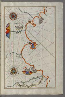 Free Illuminated Manuscript, Map Of The Algerian Coast Around Ora From Melilla &x28;Malīlah&x29; And Northwest Of Tlemcen &x28;Tili Royalty Free Stock Photos - 88694098